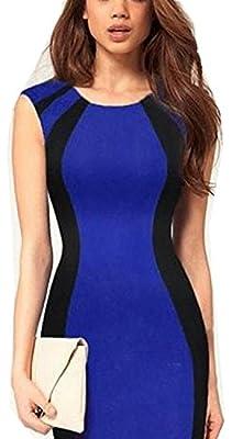 WIIPU Women Vintage Sleeveless wear to work business Pencil Dress(J364)