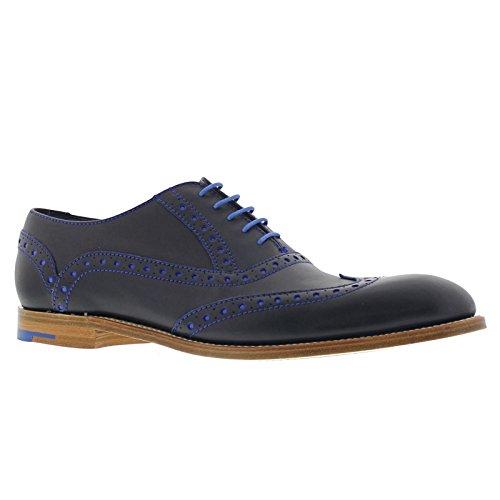 Barker Mens Grant Navy Blue Leather Shoes 9.5 UK