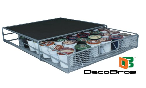 Coffee Storage Drawer Holder 36 Keurig K-cup Pods by DecoBros®
