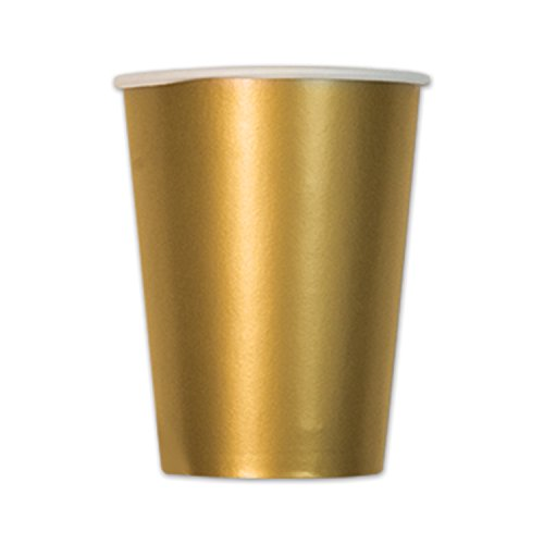 Metallic Gold Cups  (10/Pkg)
