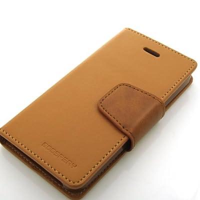 Google Nexus5 (LG-D821/EM01L) 対応 ネクサス5 手帳型 ケース (ICカード、紙幣収納) GOOSPERY SONATA DIARY CASE ソナタ PUレザー ダイアリー ケース (キャメル)