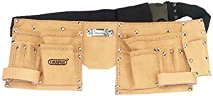 Draper DIY Series 09241 Leather Double Tool Pouch