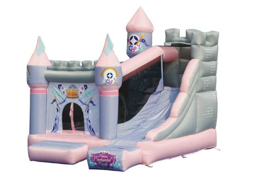 Kidwise Princess Enchanted Castle Bounce House Bouncer With Slide