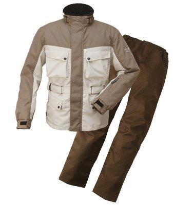 ラフ&ロード エキスパート ウインター スーツ 防寒 防風 防雨 上下セット ベージュ×プラチナシルバー L RR6515 BE/PSV-L