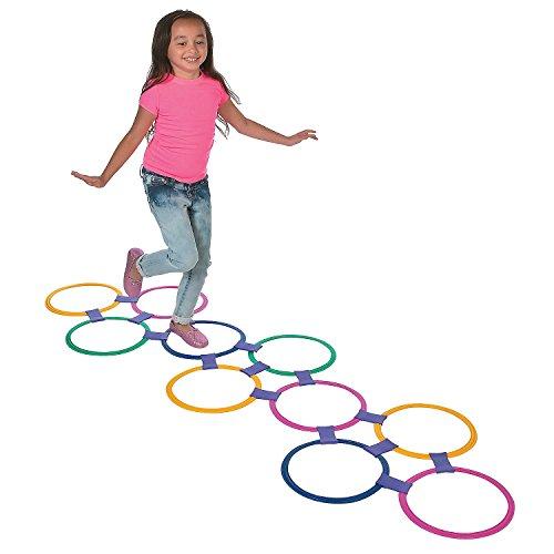 Plastic Hopscotch Outdoor Ring Game - 25 piece set