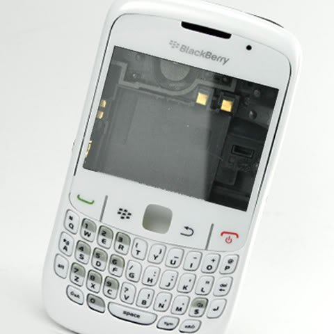 Original Genuine OEM BlackBerry Curve 8520 White Full Housing Faceplate Fascia Plate Panel Cover Case Repair Replace Replacement+Keyboard Keypad Key Keys Button Buttons+Lens+Chassis (Blackberry 8520 Full Housing compare prices)