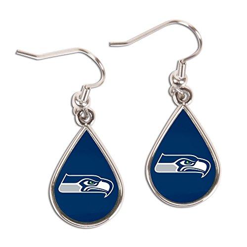 NFL Seattle Seahawks Tear Drop Earrings, Large, Multi