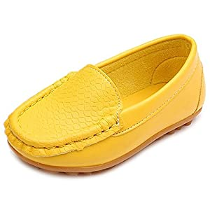 Little Kid Toddler Boys Girls Soft PU Funx Leather Slip-On Oxford Shoes Loafer