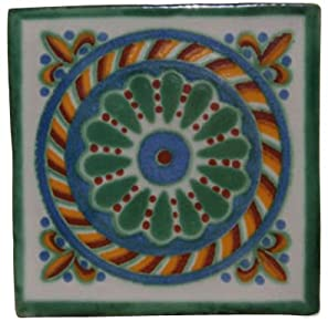 90 Hand Painted Talavera Mexican Tiles 4 X4