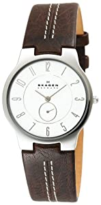 Skagen Men's 433LSL1 Ferdinand Quartz 3 Hand Stainless Steel Dark Brown Watch