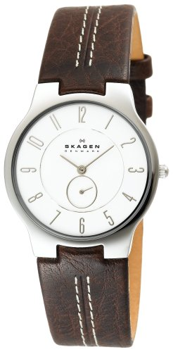 Skagen Men&#8217;s 433LSL1 Slim Brown Leather Watch