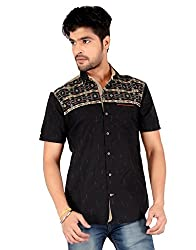 Carbone Men's Silm Fit Casual Shirt-XL