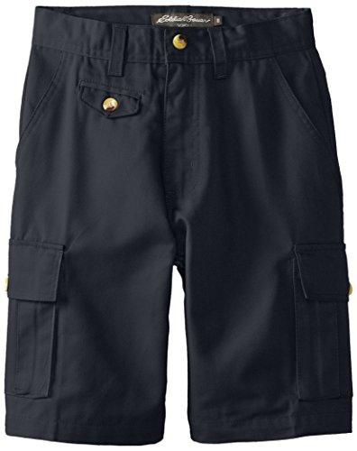 Eddie Bauer Big Boys' Twill Cargo Shorts, Navy, 8