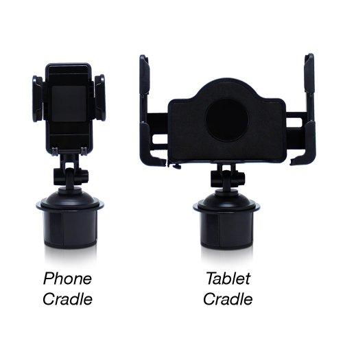 Satechi SCH-121 Cup Holder Mount for Smartphones & Tablets: iPad, iPad Mini/Air, Asus Eee Pad Transformer, Motorola Xoom, Samsung Galaxy Tab, Galaxy 10.1, Viewsonic Gtablet, Blackberry Playbook, HTC Flyer, iPhone, BlackBerry, Galaxy S4, S3, S2