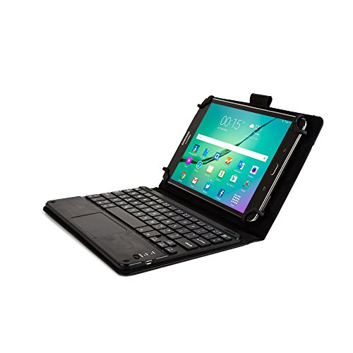 Dell Venue 8 / New 2014 Edition / Pro Keyboard case, COOPER TOUCHPAD EXECUTIVE Bluetooth Detachable QWERTY Wireless Keyboard Carrying Case Tablet Cover Folio with Stand (Black) (Mobile Keyboard Touchpad compare prices)