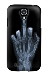 S1143 X-ray Hand Middle Finger Case Cover For Samsung Galaxy S4