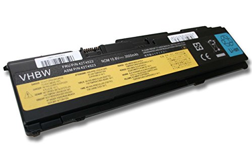 vhbw Li-Ion Batterie 3600mAh (10.8V) pour Notebook Lenovo / IBM Thinkpad X301 (13.3, X301 2774, X301 2776, X301 2777 comme 43R1965.