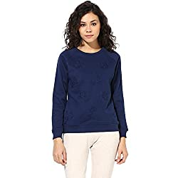Cashewnut Women Basic Solid R-Neck Sweatshirts Jackets-XXL