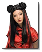 Ms.Chow Red and Black Wig