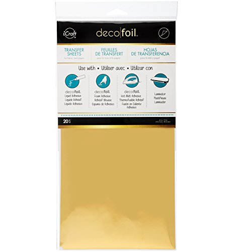 Therm O Web Deco Foil (Pack of 20), Gold
