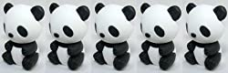 Iwako Panda Erasers, a Set of 5 Pieces, Made in Japan, Collectable.