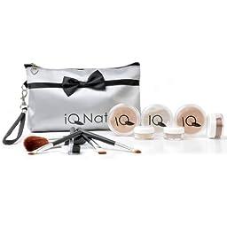 IQ Natural 12pc XL (Medium Shade) Minerals Makeup Set with Cosmetic Bag!