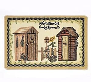 outhouses country bath rug country kitchen rugs