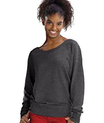 Lat Juniors' Lightweight French Terry Slouchy Pullover (Smoke) (2X)