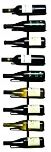 True Fabrications Wall Mount Wine Rack Holds 9 Bottles