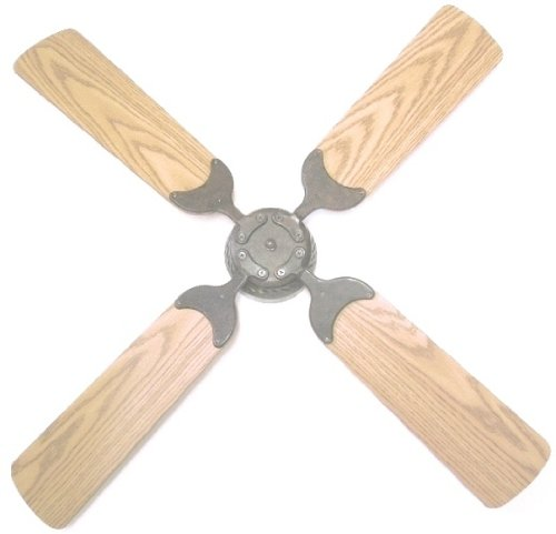 Global Electric 42-Inch Non-Brush Ceiling Fan For Rv, Rustic Bronze With Remote Control, Oak / Light Oak Reversible Blades