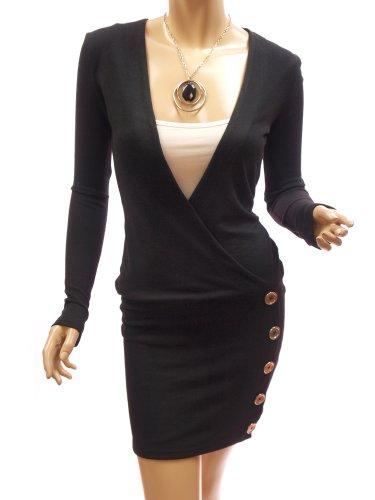 Patty Women Smart V-Neck Long Sleeve Knitwear Dress Set