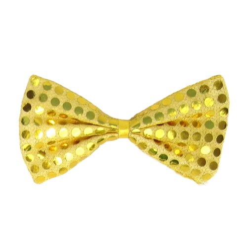 SeasonsTrading Gold Sequin Bow Tie ~ Fun Costume Party Accessory (STC12059)
