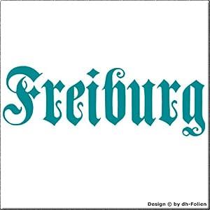 cartattoo4you AK-01584 | FREIBURG - Fraktur / Altdeutsche Schrift | Autoaufkleber Aufkleber FARBE petrol , in 23 weiteren Farben erhältlich , glänzend 17 x 5 cm in PREMIUM - Qualität Waschstrassenfest VERSANDKOSTENFREI