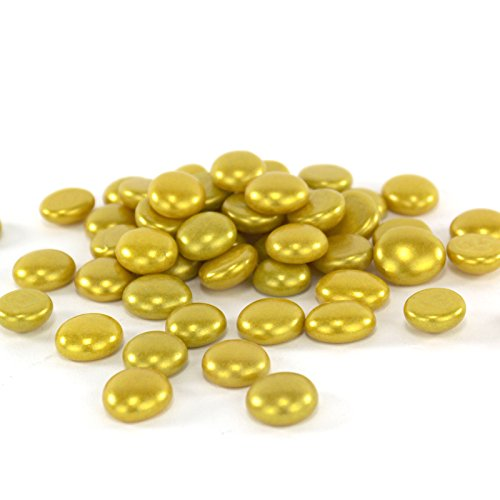 CYS Vase Filler Gem Glass Confetti, Table Scatters, Gold, 5 lbs, Approximately 500 pcs (Pink Vase Filler Gems compare prices)
