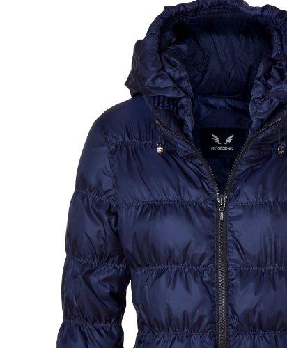Piumino da donna giacca cappuccio, Blu