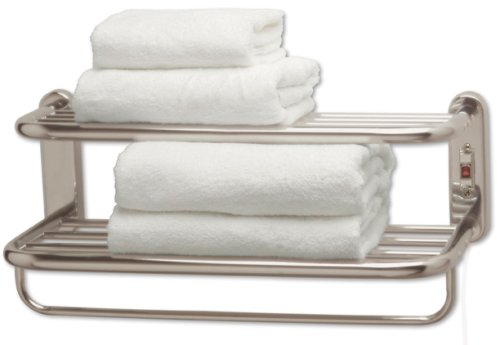 Warmrails Hardwired Wall Mounted Heated Towel Shelf Satin