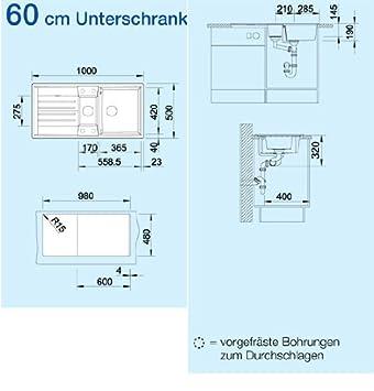 Blanco Lexa 6 S Anthrazit Granit Küchenspüle Grau Einbau-Spüle ...