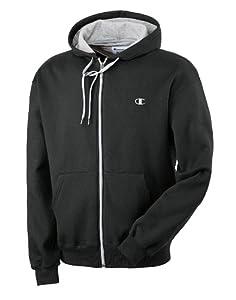 Champion Men's Eco Fleece Full Zip Hoodie, Black, XXX-Large