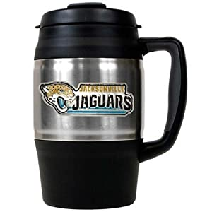 NFL Jacksonville Jaguars Macho Stainless Steel Travel Mug, 34-Ounce by Great American Products
