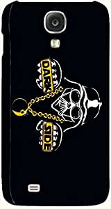 Brilliant multicolor printed protective REBEL mobile back cover for Samsung I9500 Galaxy S4 D.No.N-T-4117-S4