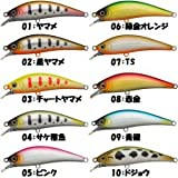 フクシルアーズ シンキングミノー 菊松 55mm/5g インジェクションモデル (#10 DJ ドジョウ)