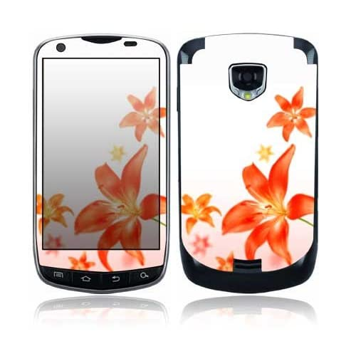 Flying Flowers Design Protective Skin Decal Sticker for Samsung Droid Charge SCH i510 Cell Phone