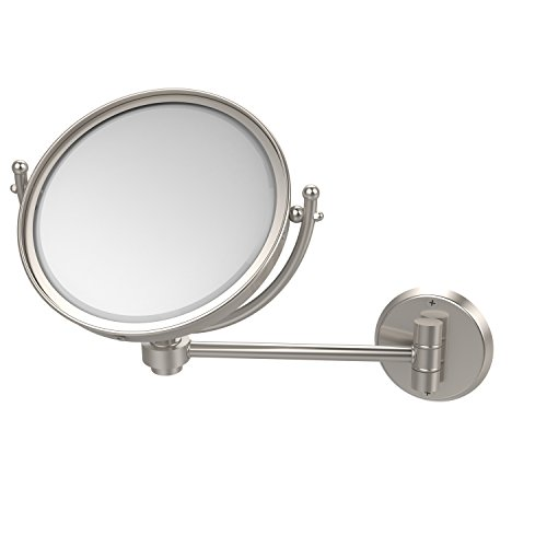 Allied Brass WM-5/4X-SN 8-Inch Mirror with 4x Magnification Extends 7-Inch Satin Nickel