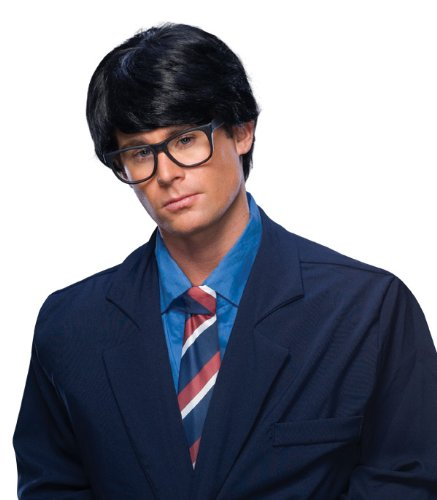 Rubie's Costume Characters Men's Short Hair Wig, Black, One Size - 1