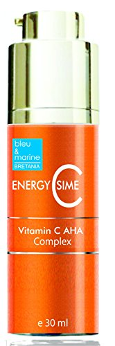 Siero Antimacchie Antietà con Vitamina C ed Arbutina ● Effeto Schiarente ● Discromie Cutanee ● Attenua le Rughe ed Illumina il colorito della pelle , bleumarine Bretania, made in France, 30 ml