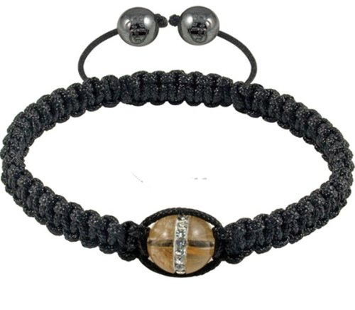 Tresor Paris Dance Crystal Set Tigers Eye Bracelet