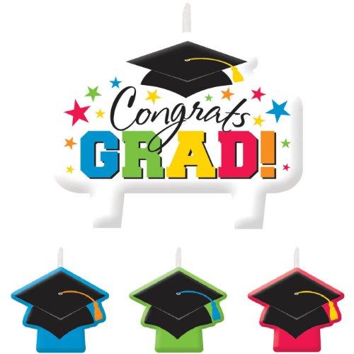 Graduation Multi-Colored Candle Set - 1