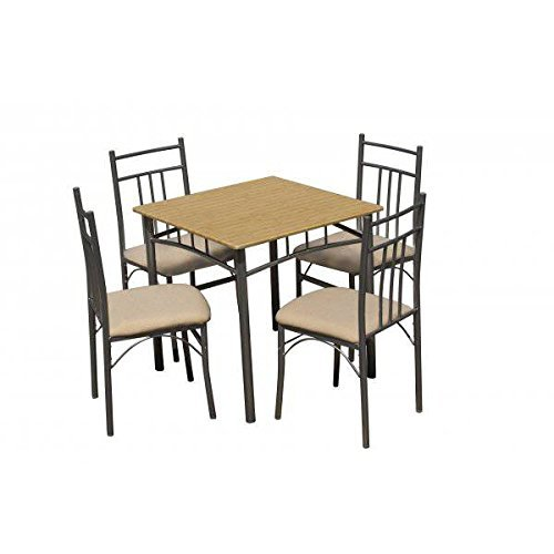 Conjunto De Mesa Cuadrada Y 4 Sillas tapizadas para cocina o comedor