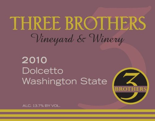 2010 Three Brothers Vineyard & Winery Rattlesnake Hills Dolcetto 750 Ml