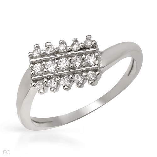 Ring With Cubic zirconia Made in 925 Sterling silver (Size 6)